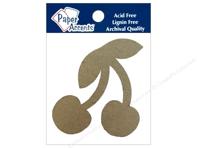 Paper Accents Chipboard Shape Cherry 8 pc. Natural