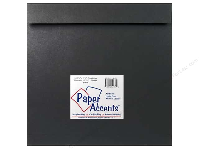 12 1/4 x 12 1/4 in. Envelopes by Paper Accents 4 pc. #127 Black