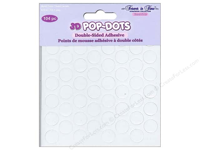 Multicraft 3D Pop Dots 1/2 in. Round Foam 104 pc.