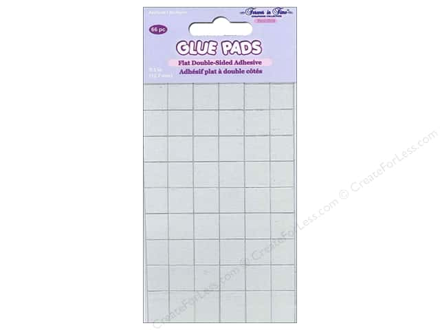 Multicraft Adhesive Glue Pads Square 1/2 in. Clear 66 pc.