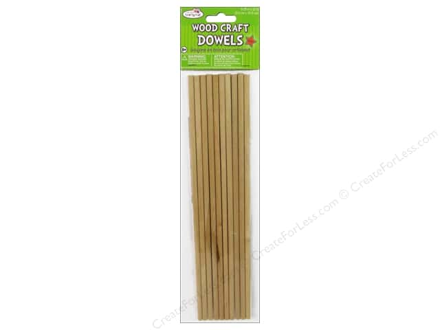 Craft Medley Wood Dowel 1/4 x 12 in. Natural 10 pc.