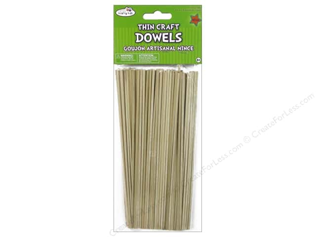 Craft Medley Wood Dowel 8 x 1/8 in. Natural 105 pc.