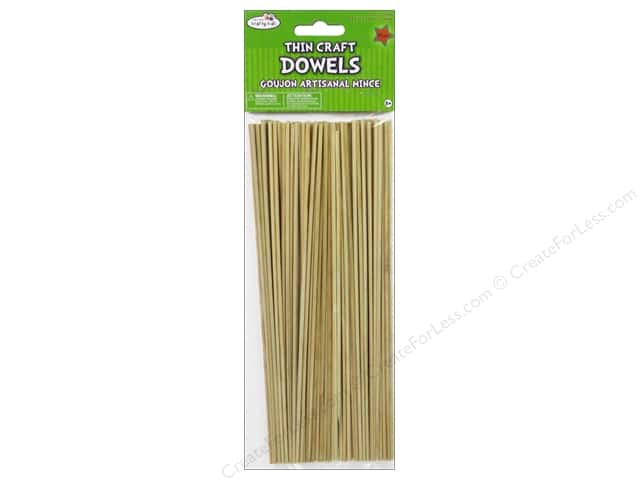 Craft Medley Wood Dowel 10 x 1/8 in. Natural 85 pc.