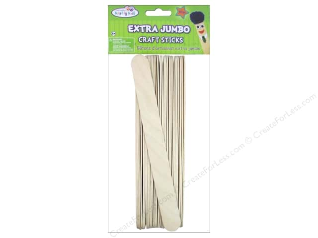 Craft Medley Craft Sticks Extra Jumbo 8 in. 25 pc.
