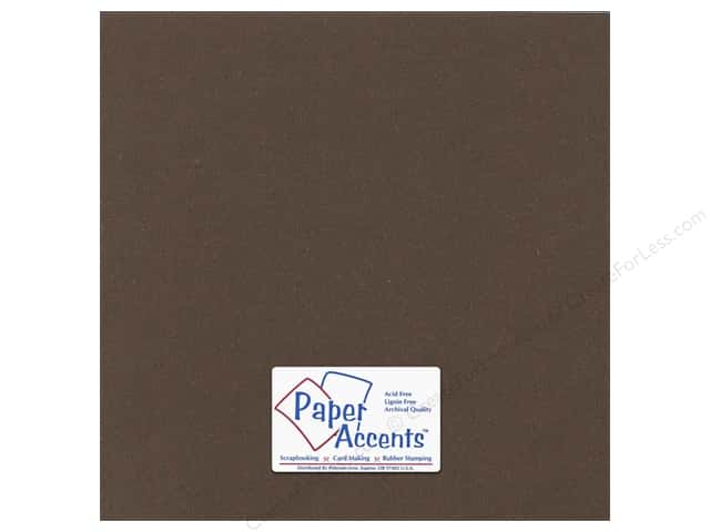Paper Accents Cardstock 12 x 12 in. #365 Recycled Cocoa (25 sheets)