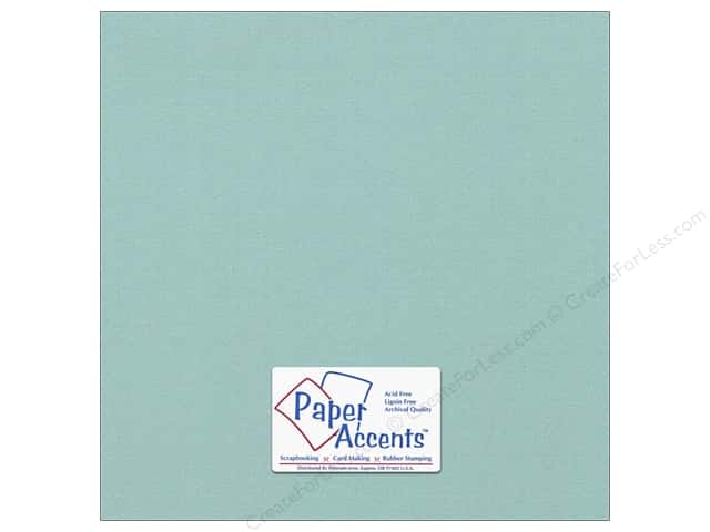 Cardstock 12 x 12 in. #8089 Muslin Seafoam by Paper Accents (25 sheets)
