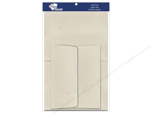 4 1/4 x 5 1/2 in. Blank Card & Envelopes by Paper Accents 8 pc. Beach Sand