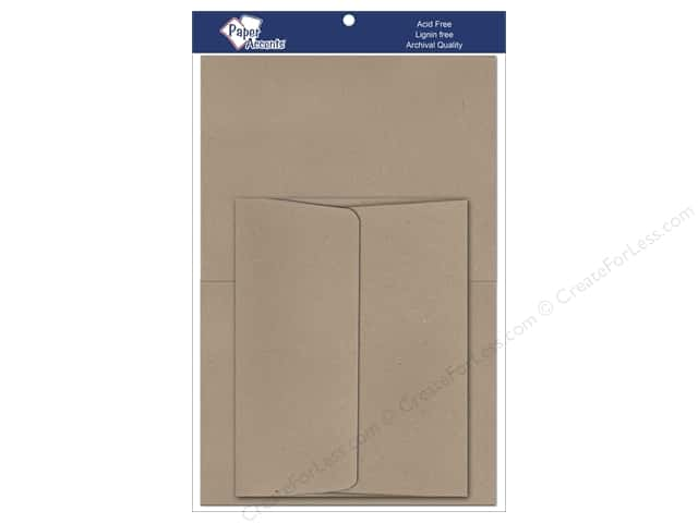 4 1/4 x 5 1/2 in. Blank Card & Envelopes by Paper Accents 8 pc. #364 Russet