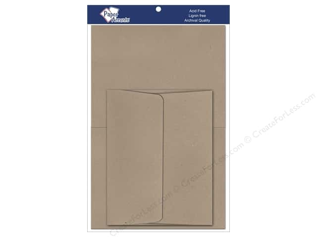 5 x 7 in. Blank Card & Envelopes by Paper Accents 8 pc. Russet