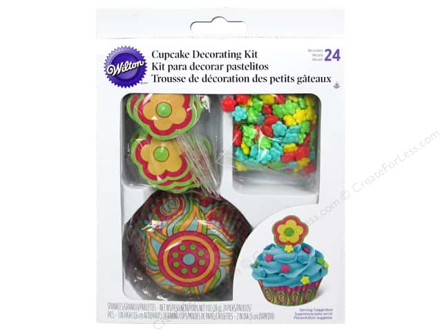 Wilton Decorations Cupcake Decorating Kit Flower 48pc