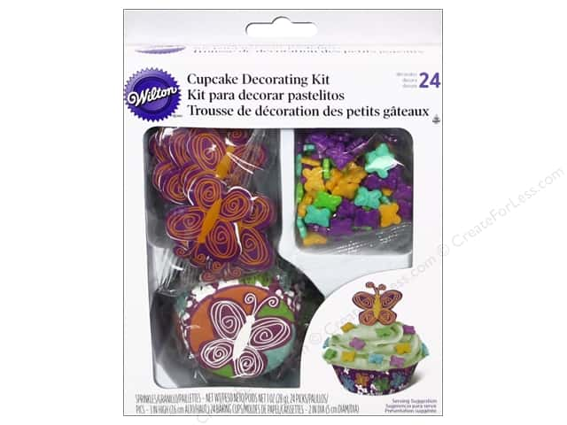 Wilton Decorations Cupcake Decorating Kit Butterfly 48pc
