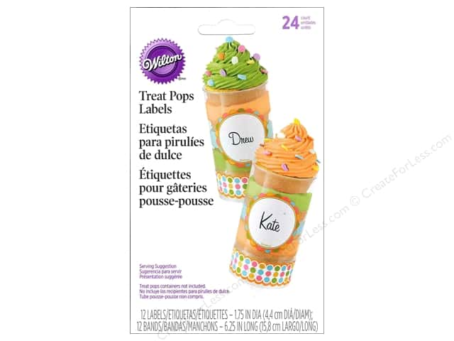 Wilton Treat Pops Labels Multi Color
