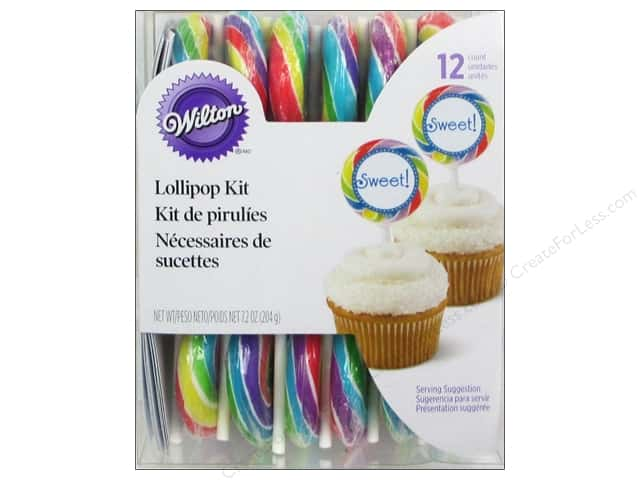 Wilton Edible Decorations Lollipop Pick Kit Color Primary