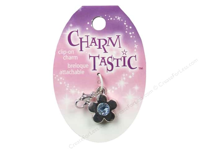 Janlynn Charmtastic Clip-On Charm March Aquamarine