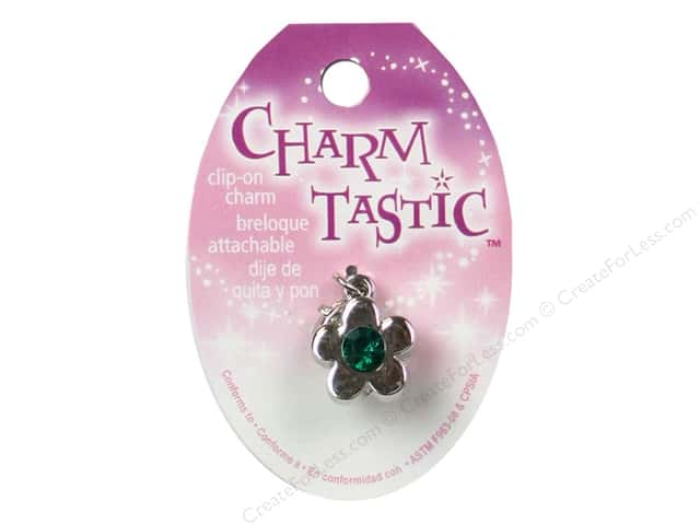 Janlynn Charmtastic Clip-On Charm May Emerald