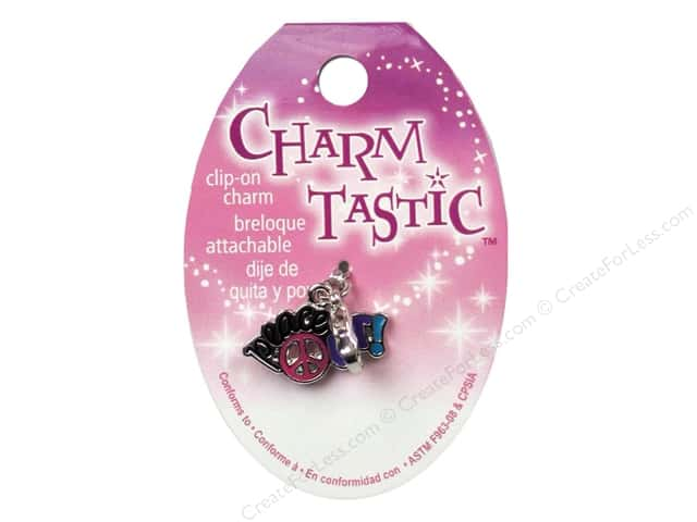 Janlynn Charmtastic Clip-On Charm Peace Out