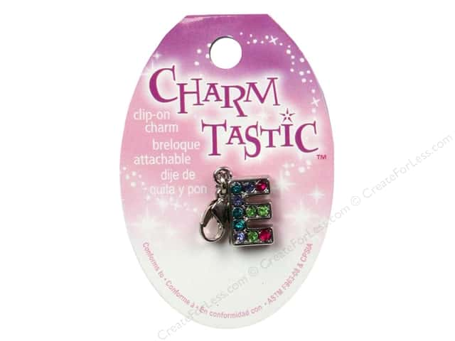 Janlynn Charmtastic Clip-On Charm Letter E