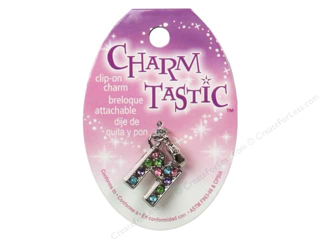Janlynn Charmtastic Clip-On Charm Letter M