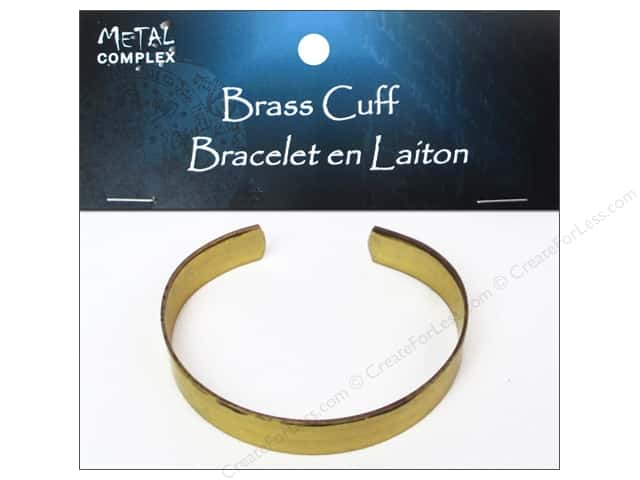Metal Complex Bracelet Cuff Flat Band 3/8 in. Brass