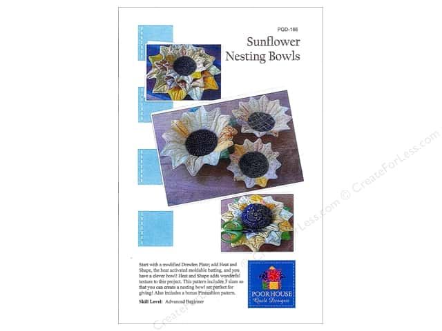 Poorhouse Quilt Designs Sunflower Nesting Bowls Pattern