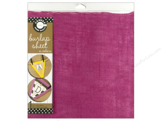 Canvas Corp Burlap Sheet 12 x 12 in. Hot Pink (10 sheets)