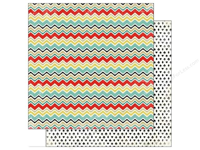 Carta Bella 12 x 12 in. Paper Well Played Chevron (25 sheets)