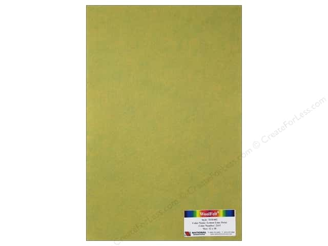National Nonwovens WoolFelt 12 x 18 in. 35% Lemon Lime Twist (12 pieces)