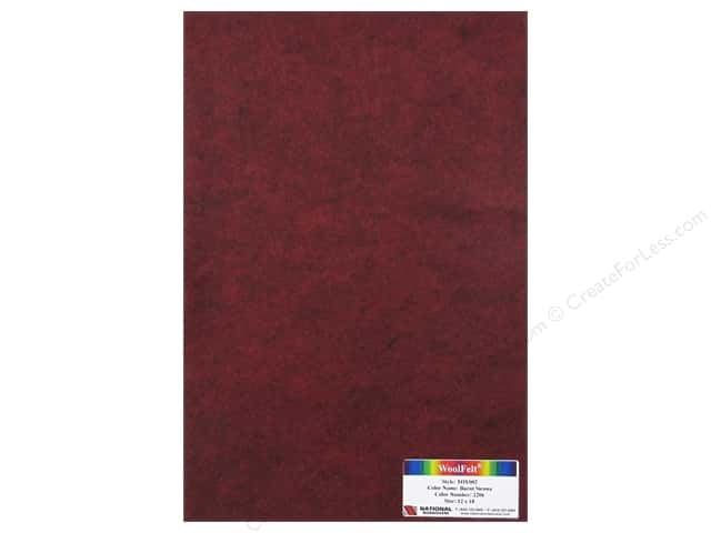 National Nonwovens WoolFelt 12 x 18 in. 35% Burnt Sienna (12 sheets)