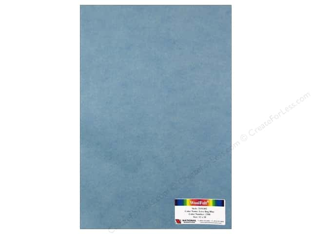 National Nonwovens 35% Wool Felt 12 x 18 in. Love Bug Blue (10 sheets)