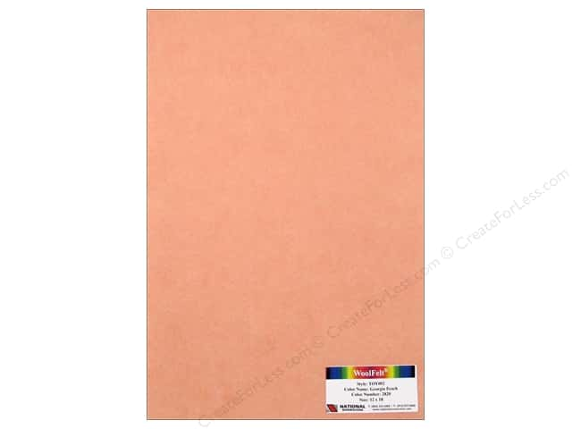 National Nonwovens WoolFelt 12 x 18 in. 35% Georgia Peach (10 sheets)