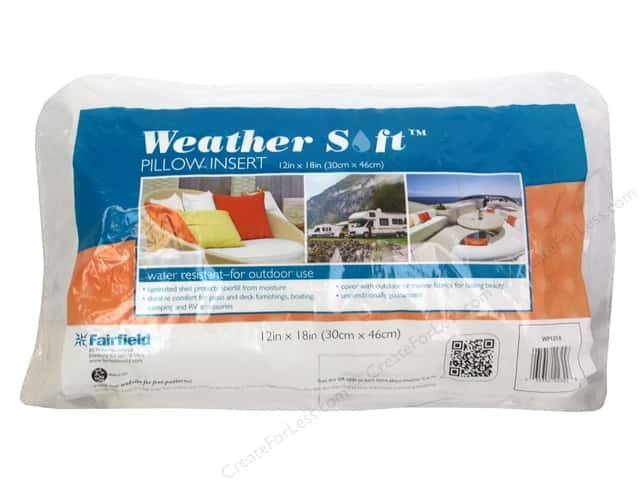 Fairfield Pillow Insert 12 x 18 in. Weather Soft