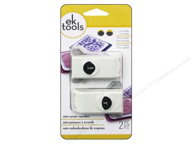 EK Success Mini Corner Punch Set 2 pc. Rounders