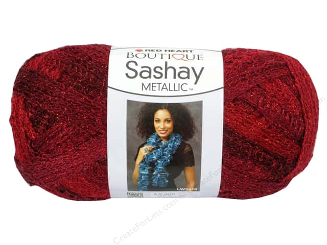 Red Heart Boutique Sashay Yarn #9943 Metallic Rubies 30 yd.
