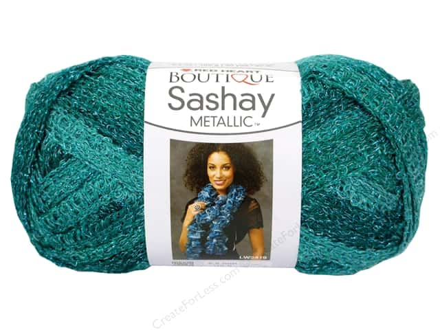 Red Heart Boutique Sashay Yarn #9944 Metallic Malachite 30 yd.