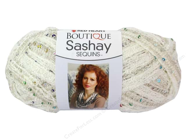 Red Heart Boutique Sashay Yarn #1101 Sequin Champagne 20 yd.