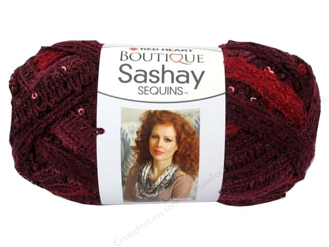 Red Heart Boutique Sashay Yarn #1938 Sequin Cabernet 20 yd.