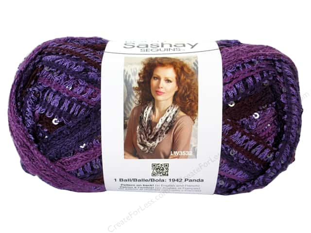 Red Heart Boutique Sashay Yarn #1945 Sequin Concord 20 yd.