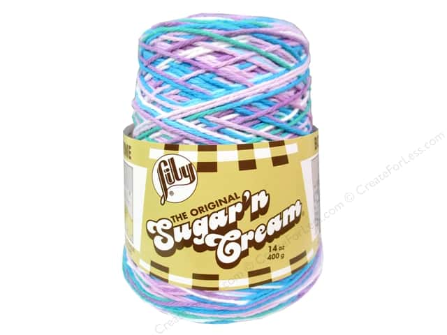 Lily Sugar 'n Cream Yarn Cone 14 oz. #02316 Beach Ball Blue