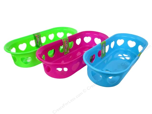 Activity Basket Oval With Heart 11 3/4 x 5 in. Assorted (36 pieces)