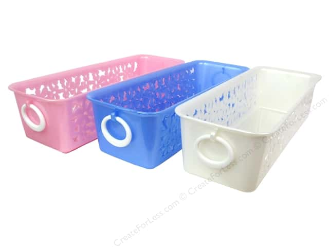 Multicraft Organizer Basket Activity With Flower Assorted 3 Color (24 pieces)
