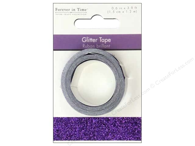 "Multicraft Adhesive Tape Glitter 5/8"" Purple 3.9ft"