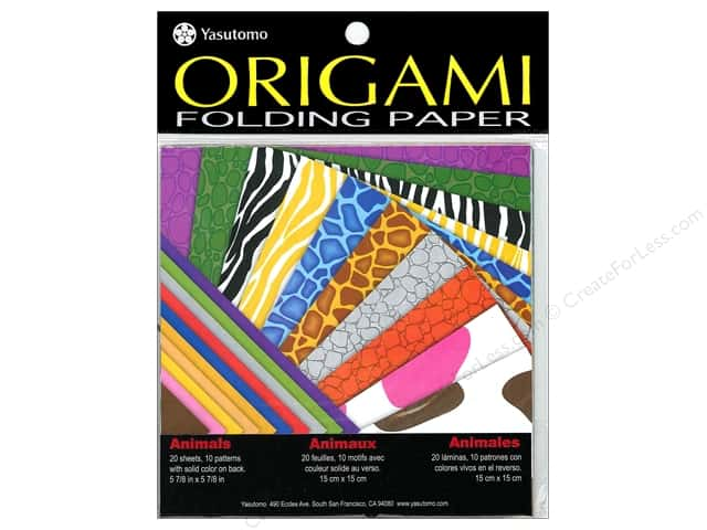 Yasutomo Fold Ems Origami Paper 5 7/8 in. 20 pc. Animals