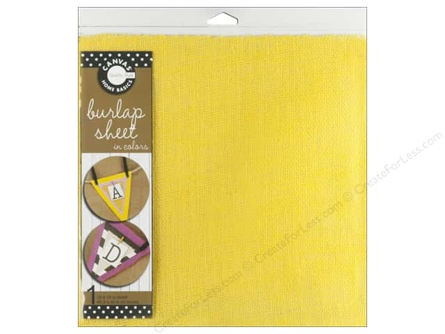 Canvas Corp Burlap Sheet 12 x 12 in. Yellow (10 sheets)