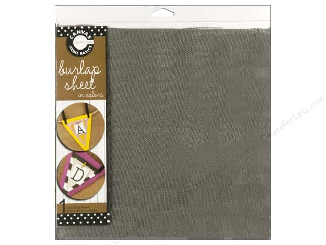 Canvas Corp Burlap Sheet 12 x 12 in. Grey (10 sheets)