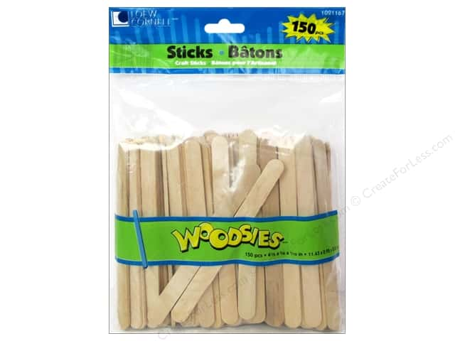 Woodsies Craft Stick 150 pc.