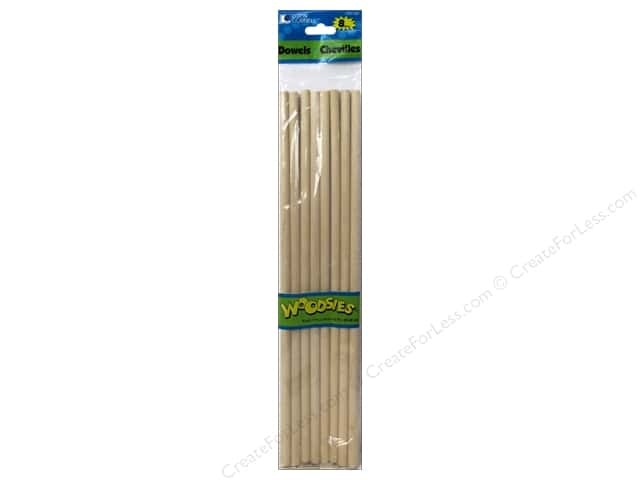 Woodsies Wood Dowels 12 x 5/16 in. 8 pc.