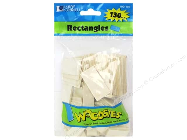 Woodsies Wood Shapes Rectangles 130 pc.