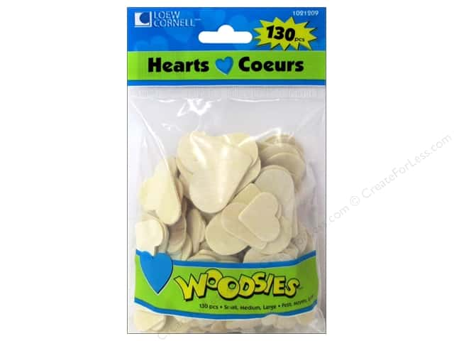 Woodsies Wood Shapes Hearts 130 pc.