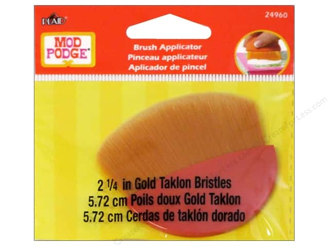 Plaid Mod Podge Tools Brush Applicator Taklon Gold 2.25""