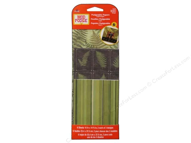 Plaid Mod Podge Podgeable Papers Woodland